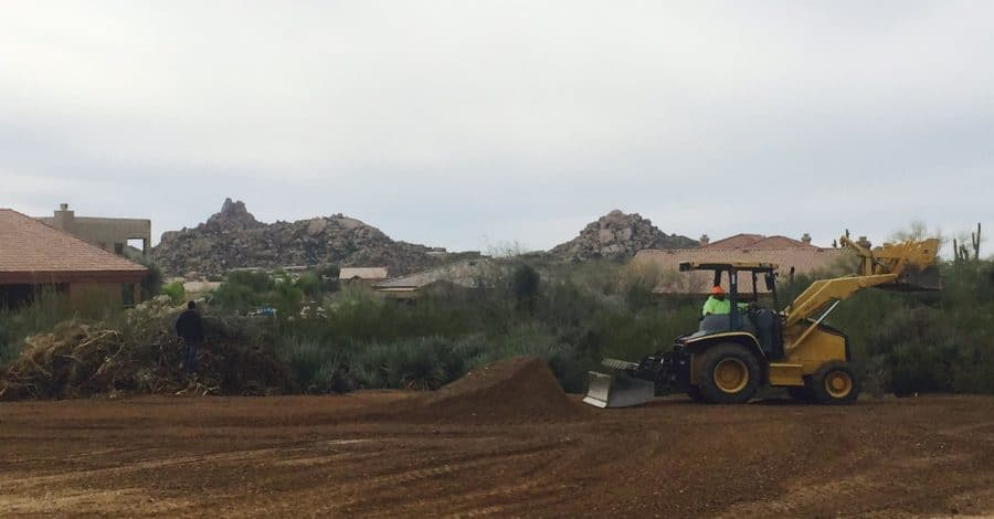 grading bordeaux builders scottsdale
