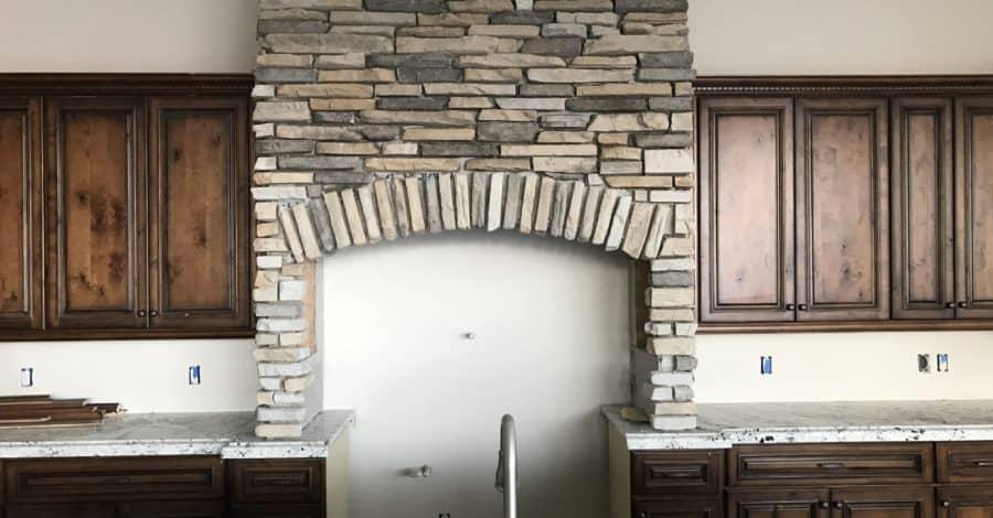custom stone hood kitchen bordeaux builders