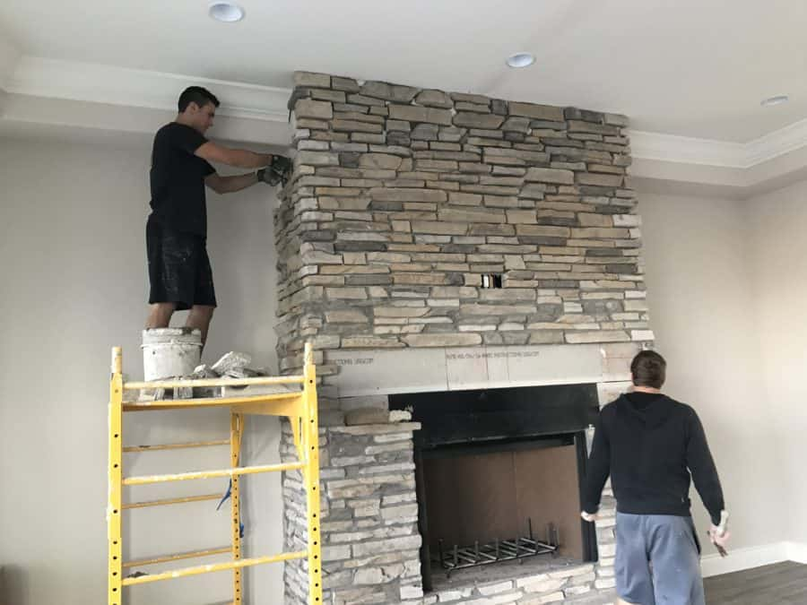stone fireplace bordeaux builders scottsdale