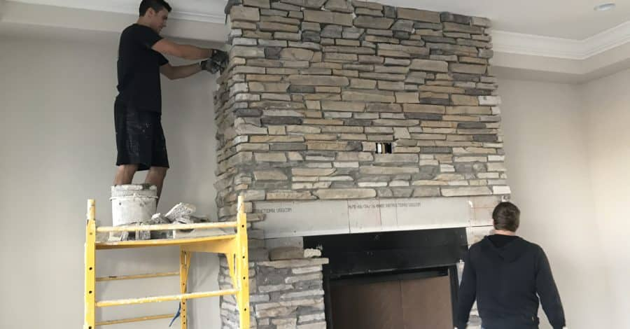 stone fireplace bordeaux builders scottsdale