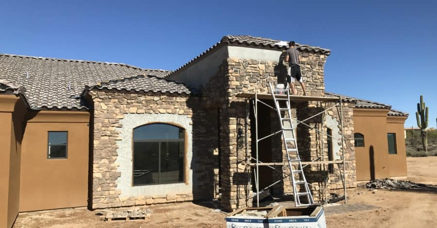 exterior stone finish bordeaux builders scottsdale