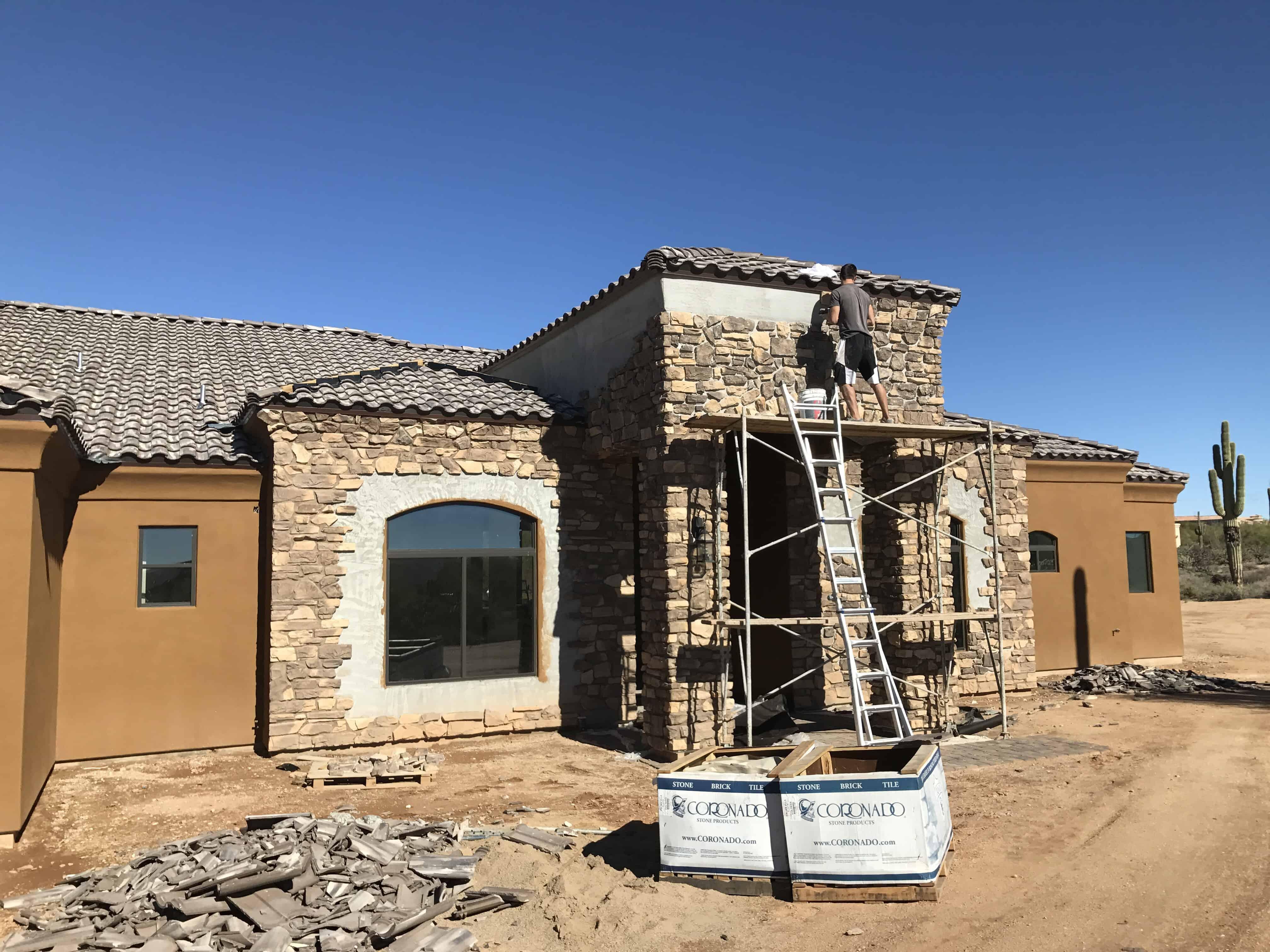 exterior stone finish bordeaux builders scottsdale