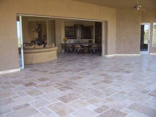 scottsdale travertine patio bordeaux builders
