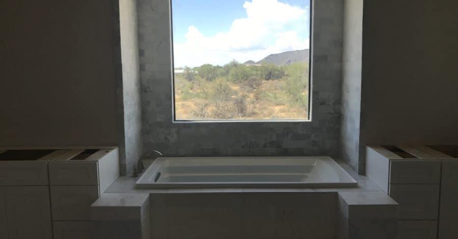 custom bathroom mountain view bordeaux builders scottsdale