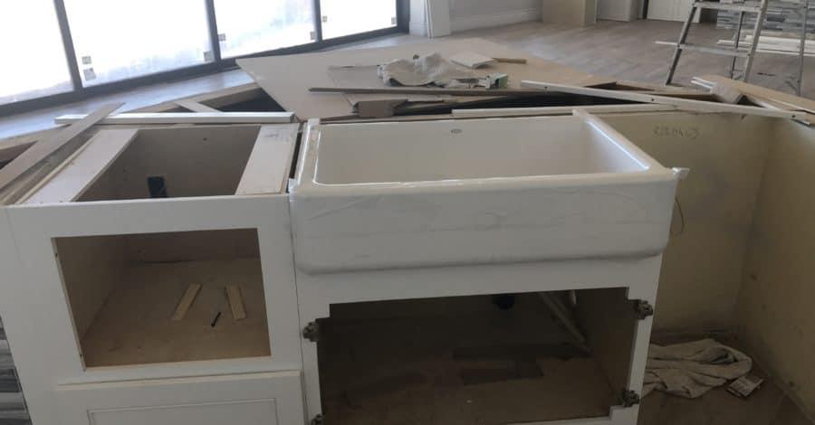 farmhouse sink Scottsdale custom kitchen Bordeaux Builders