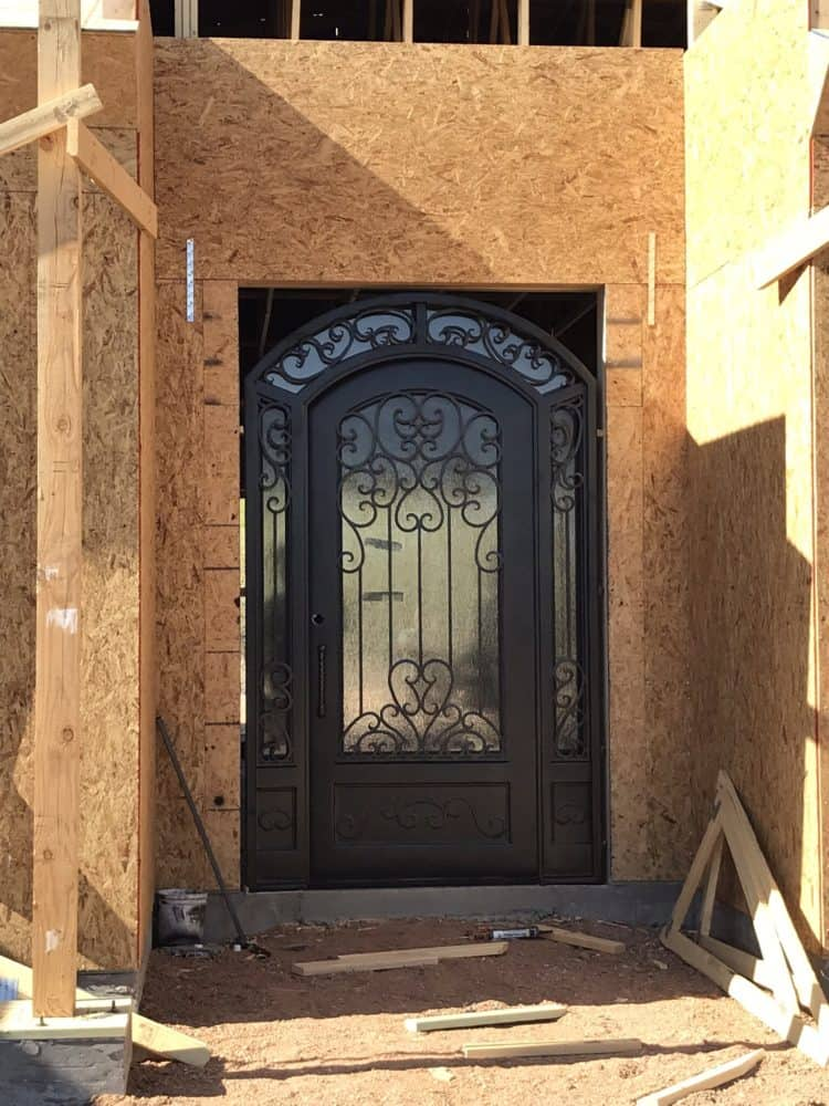 custom iron entry door bordeaux builders