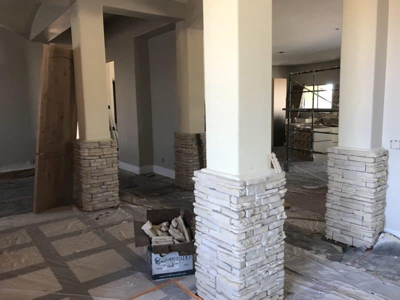 interior columns custom home bordeaux builders