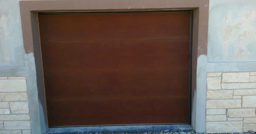 rusted metal garage door bordeaux builders