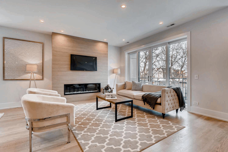 custom home contemporary fireplace bordeaux builders
