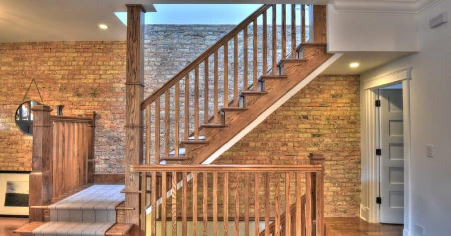 custom home staircase bordeaux builders