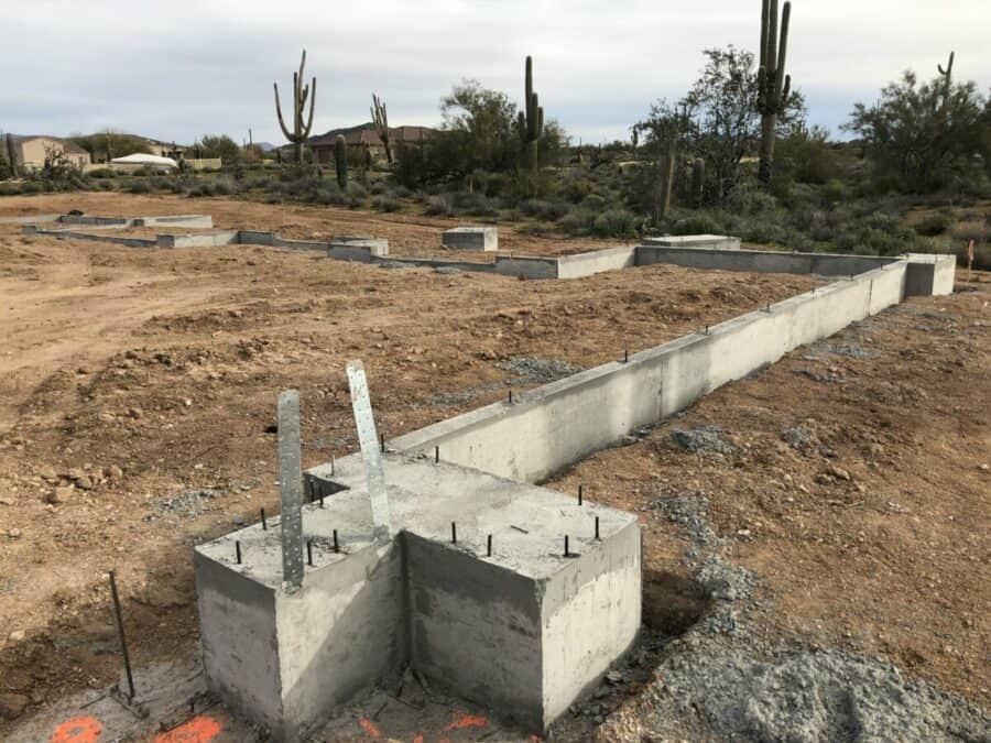 stem walls scottsdale custom home bordeaux builders