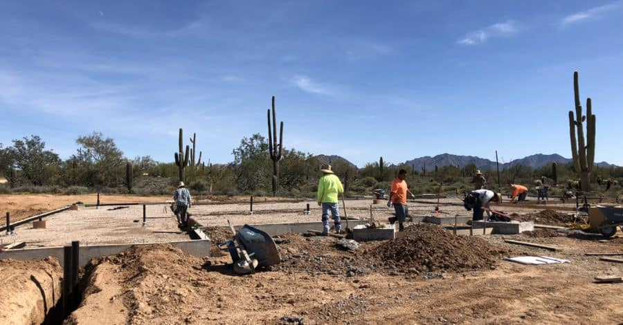 lot grading scottsdale bordeaux builders