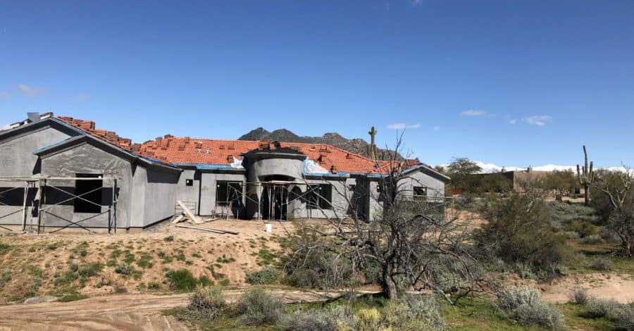 stucco cave creek home bordeaux builders