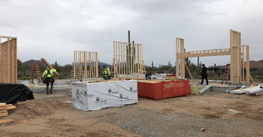 framing scottsdale custom home bordeaux builders