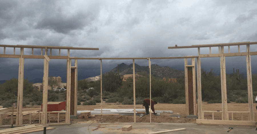 scottsdale custom home framing bordeaux builders