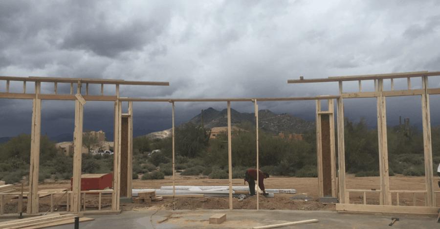 scottsdale custom home framing bordeaux builders
