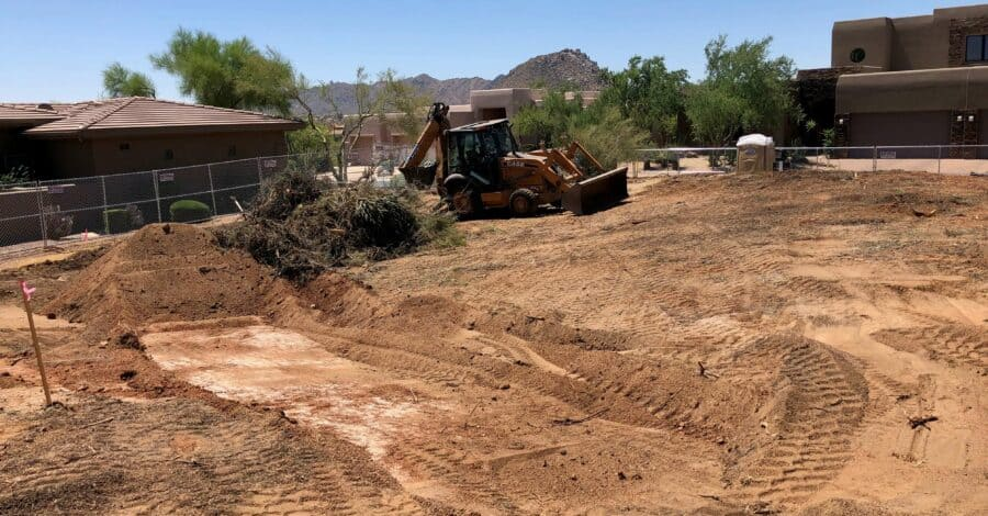 Troon Lot Grading Bordeaux Builders Scottsdale