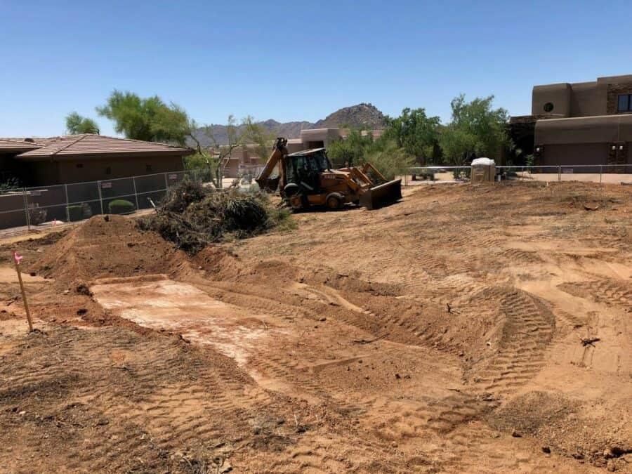 Troon Lot Grading Bordeaux Builders Scottsdale