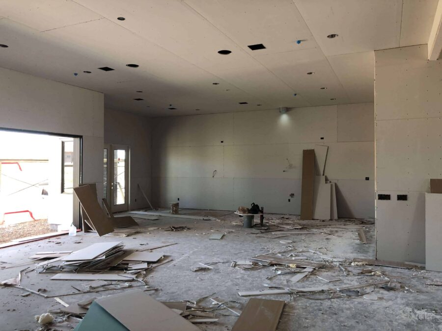 scottsdale custom home drywall