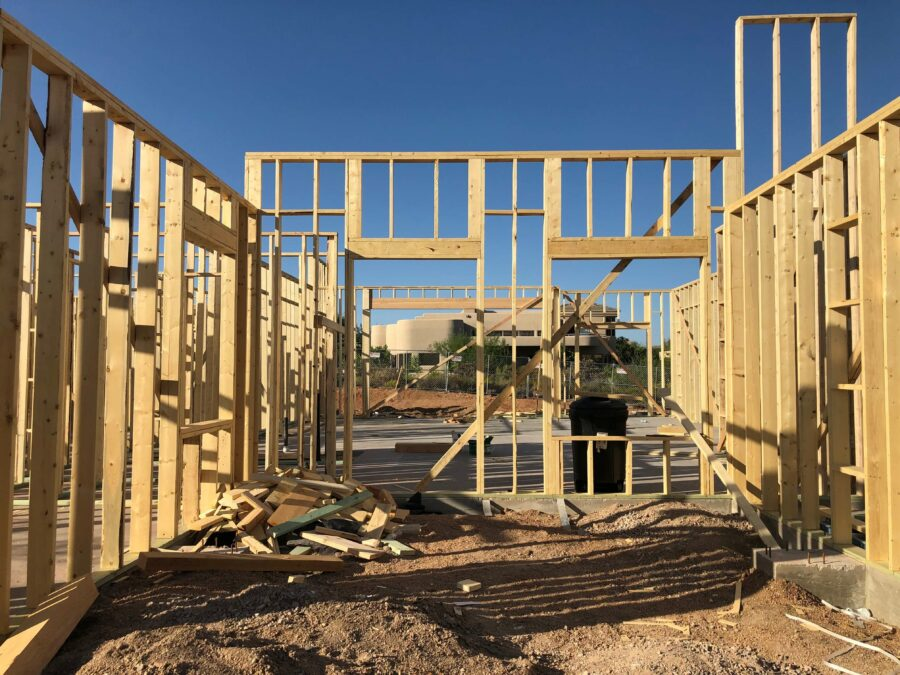 Troon north framing Bordeaux Builders