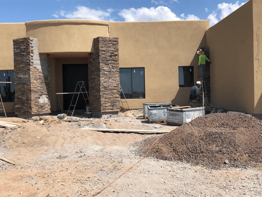 Scottsdale home exterior stone bordeaux builders