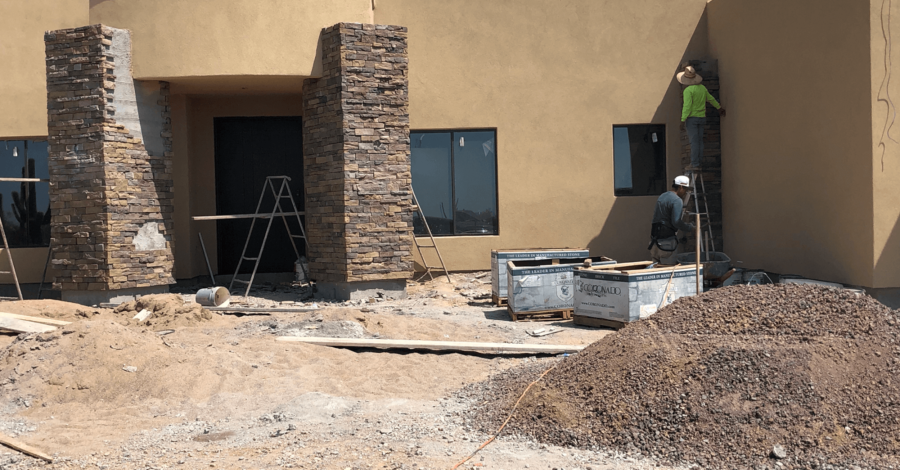 Scottsdale home exterior stone bordeaux builders