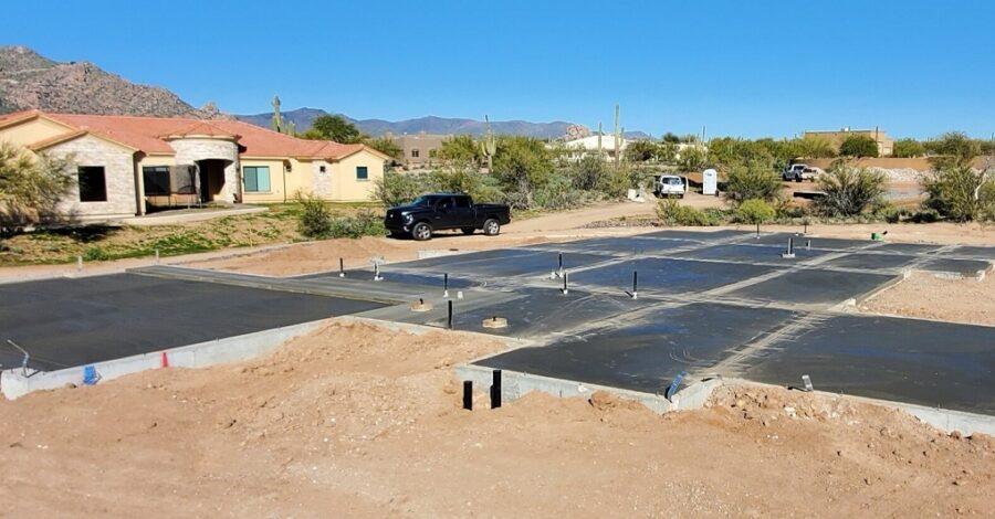 Grande Vista custom home slab