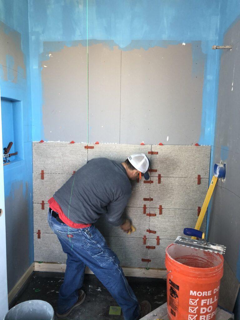 Troon Master Bath Tile Bordeaux Builders