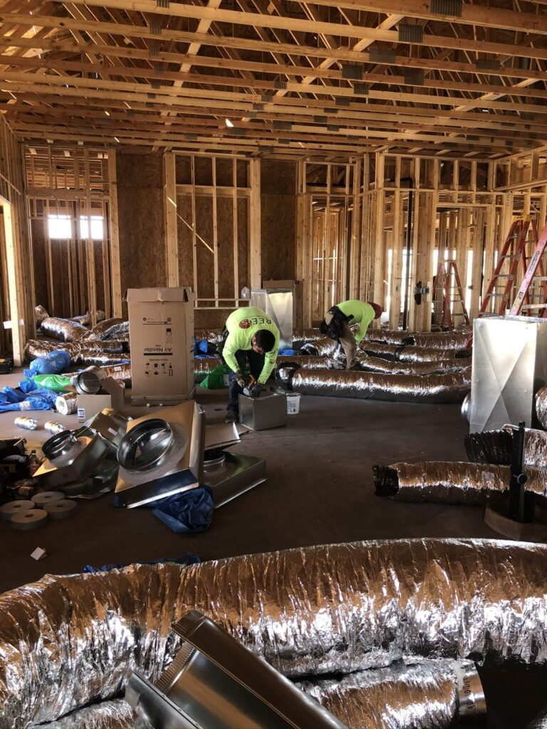 Grande Vista duct HVAC Bordeaux Builders