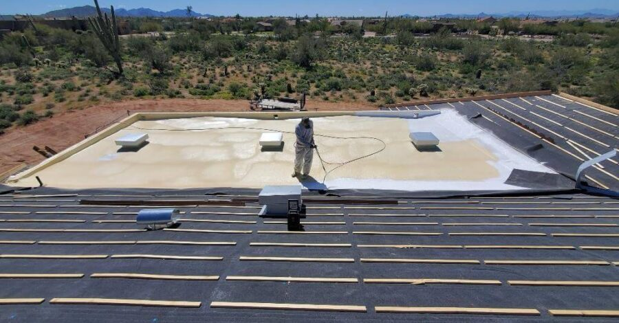 spray foam flat roof Cave Creek Bordeaux Builders